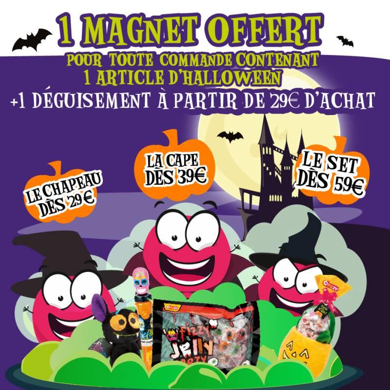 1 Magnet Halloween OFFERT