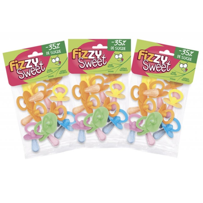 Pacifier Candy -35% of sugar - Fizzy Sweet